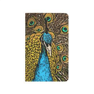 Ejemplo del esplendor del pavo real cuaderno grapado