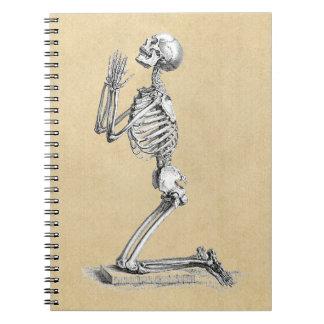 Ejemplo del esqueleto de la anatomía libretas espirales