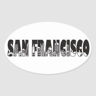 Ejemplo del esquema del texto de San Francisco Pegatina Ovalada
