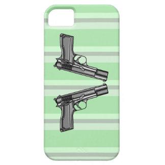 Ejemplo del estilo del dibujo animado de dos armas funda para iPhone SE/5/5s