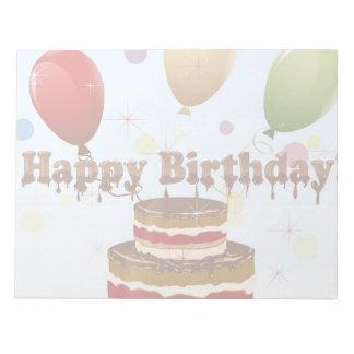 Ejemplo del feliz cumpleaños blocs