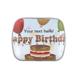 Ejemplo del feliz cumpleaños latas de dulces