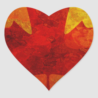 Ejemplo del fondo del Grunge de la bandera de Pegatina En Forma De Corazón