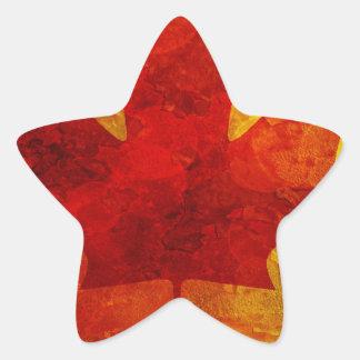 Ejemplo del fondo del Grunge de la bandera de Pegatina En Forma De Estrella