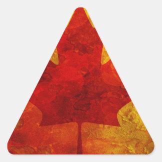 Ejemplo del fondo del Grunge de la bandera de Pegatina Triangular
