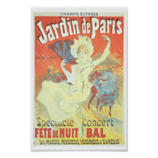 Ejemplo del francés del Victorian de Jardin de Póster