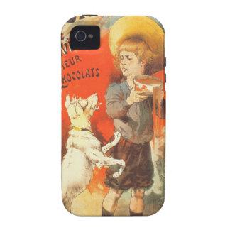 Ejemplo del francés del vintage del perrito del iPhone 4/4S carcasa