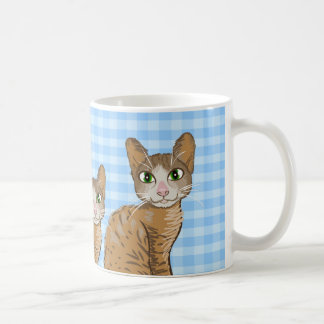 Ejemplo del gato de Brown - el azul ajusta el Taza Clásica