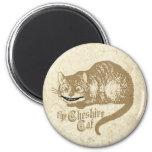 Ejemplo del gato de Cheshire del vintage Imanes Para Frigoríficos
