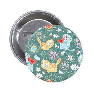 Ejemplo del gato del dibujo animado pins