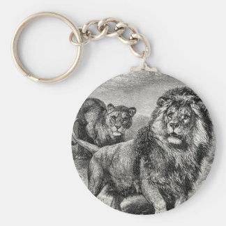 Ejemplo del gato grande de Lionesse del león de lo Llavero Redondo Tipo Pin