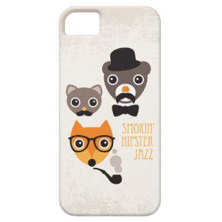 Ejemplo del gato y del oso del zorro del iPhone 5 protectores