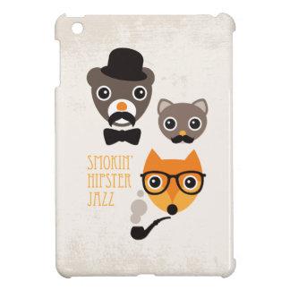 Ejemplo del gato y del oso del zorro del inconform iPad mini fundas