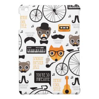 Ejemplo del gato y del oso del zorro del inconform iPad mini coberturas