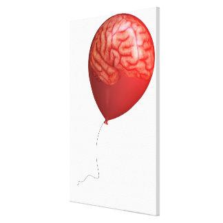 Ejemplo del globo con un cerebro sobrepuesto lona envuelta para galerías
