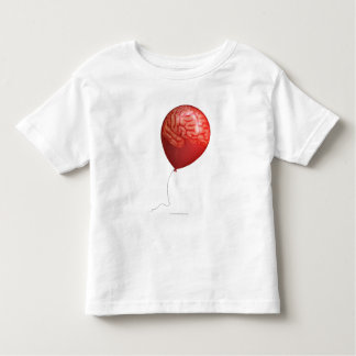 Ejemplo del globo con un cerebro sobrepuesto playera de bebé