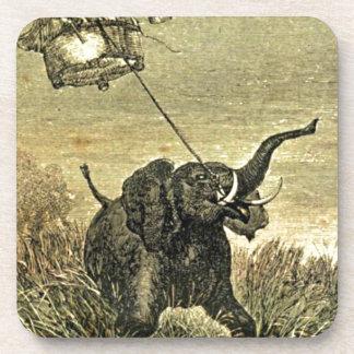 Ejemplo del globo del elefante y del aire caliente posavasos de bebidas
