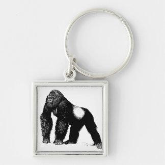 Ejemplo del gorila del Silverback del vintage neg