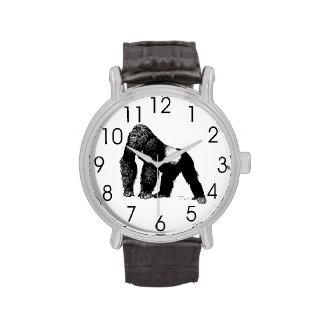 Ejemplo del gorila del Silverback del vintage, neg Relojes