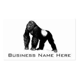 Ejemplo del gorila del Silverback del vintage, neg Tarjetas De Visita