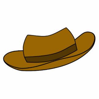 Ejemplo del gorra de Brown. En blanco Escultura Fotografica