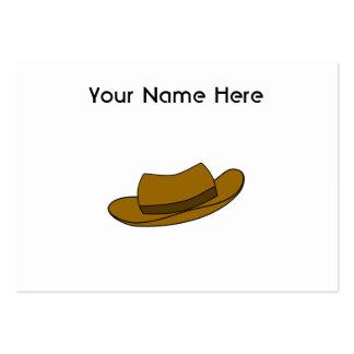 Ejemplo del gorra de Brown En blanco Tarjeta De Negocio