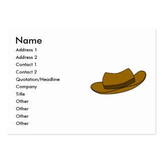 Ejemplo del gorra de Brown En blanco Tarjetas De Negocios