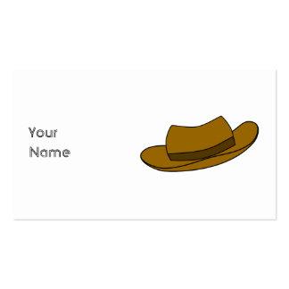 Ejemplo del gorra de Brown En blanco Tarjetas De Visita