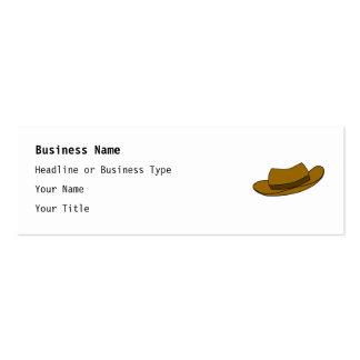 Ejemplo del gorra de Brown En blanco Tarjeta De Visita