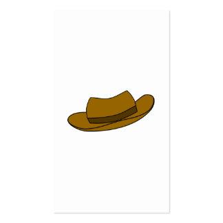 Ejemplo del gorra de Brown En blanco Plantilla De Tarjeta De Negocio