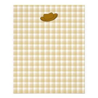 Ejemplo del gorra de vaquero. Brown Tarjeton