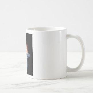 Ejemplo del gorra y de la vara mágicos de la magia taza de café