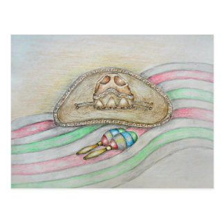 Ejemplo del gorra y de Maracas Postales