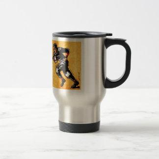 Ejemplo del Gridiron 30s del vintage del futbolist Taza De Café