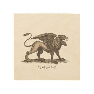 Ejemplo del grifo del vintage (greiff del gryphus) cuadro de madera