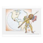 Ejemplo del guerrero azteca de Jaguar Postal