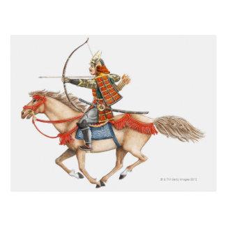 Ejemplo del guerrero temprano del samurai tarjetas postales