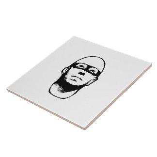 Ejemplo del héroe del Baldhead Azulejo Cuadrado Grande