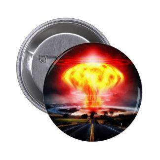 Ejemplo del hongo atómico de la explosión nuclear pin redondo de 2 pulgadas