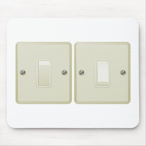 Ejemplo del interruptor de la luz tapetes de ratones