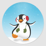 Ejemplo del invierno del pingüino - pegatina