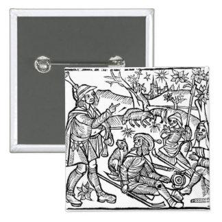 Ejemplo del 'Kalendar de los pastores Pin Cuadrada 5 Cm