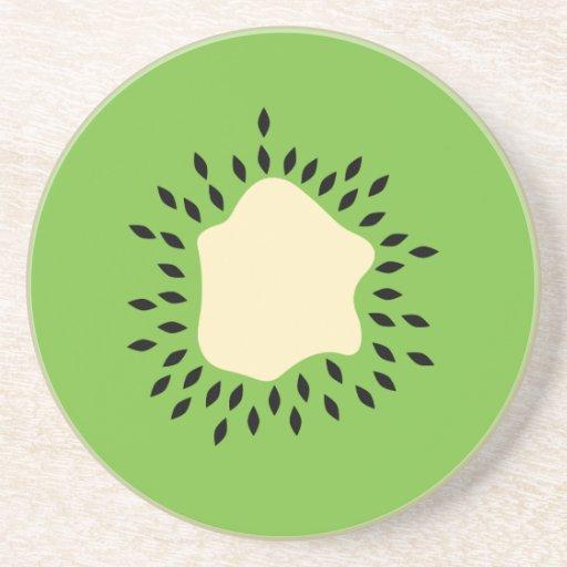 Ejemplo del kiwi posavasos personalizados