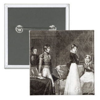"ejemplo del ""La Famille Elliot Pin Cuadrada 5 Cm"