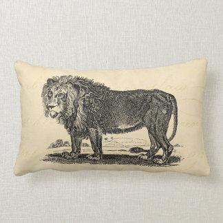 Ejemplo del león del vintage - animal del africano cojín