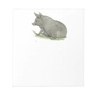 Ejemplo del libro guarro de niños del cerdo gris bloc
