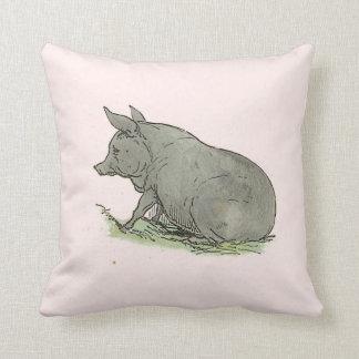 Ejemplo del libro guarro de niños del cerdo gris almohadas