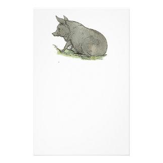 Ejemplo del libro guarro de niños del cerdo gris  papeleria de diseño