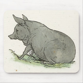 Ejemplo del libro guarro de niños del cerdo gris alfombrilla de ratón