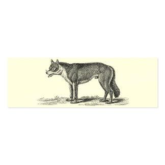 Ejemplo del lobo del vintage - plantilla de los lo tarjetas de visita